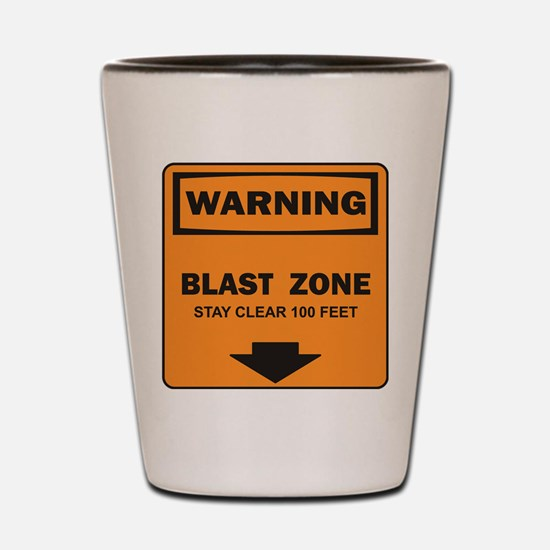 Warning Blast Shot Glass