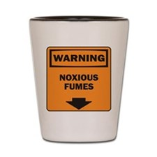Warning Fumes Shot Glass