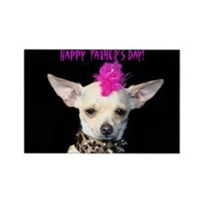 Happy Father's Day Chihuahua Rectangle Magnet
