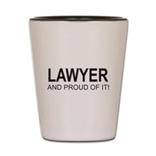 The Proud Lawyer Shot Glass