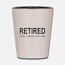 Retired Shot Glass