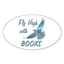 Fly with Books Decal