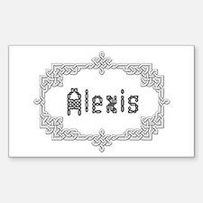 """Celtic Knots Alexis"" Rectangle Decal"
