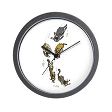 Funny Brindle french bulldog Wall Clock