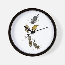 Unique Brindle french bulldog Wall Clock