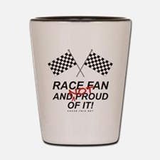 Checker Flag Proud Race Shot Glass