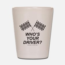 Checker Flag Driver Shot Glass