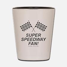 Checker Flag Speedway Shot Glass