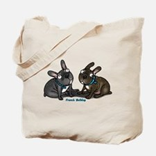 Funny French bulldog pied Tote Bag