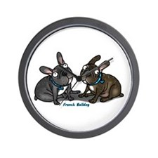 Cute Brindle french bulldog Wall Clock