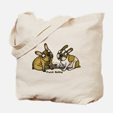 French bulldog pied Tote Bag
