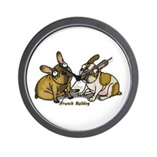 Unique Brindle french bulldog Wall Clock