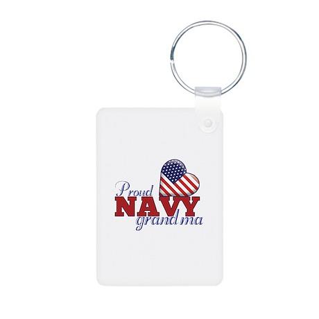 Proud Navy Grandma - Aluminum Photo Keychain