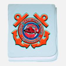 US Coast Guard Anchors baby blanket