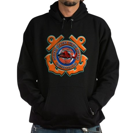 US Coast Guard Anchors Hoodie (dark)