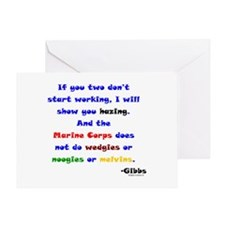 Gibbs Marines Hazing Greeting Card