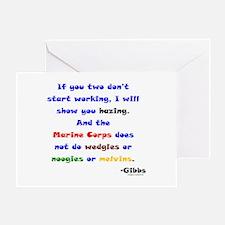 Gibbs Marines Hazing Greeting Card