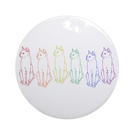 rainbow cats Ornament (Round)