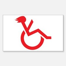 Handicapped My Ass! Decal