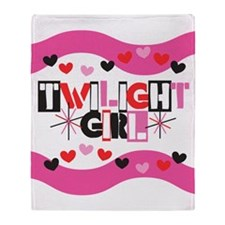 Twilight Girl Throw Blanket