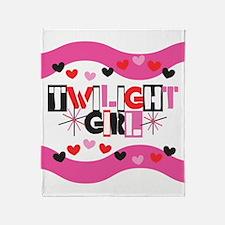 Twilight Girl Throw Blanket