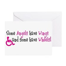 Some Angels have Wheels Greeting Cards (Pk of 10)