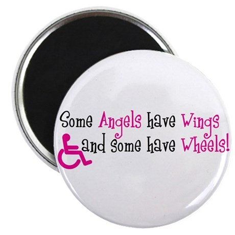 """Some Angels have Wheels 2.25"""" Magnet (10 pack)"""