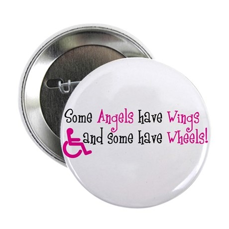 """Some Angels have Wheels 2.25"""" Button (10 pack)"""