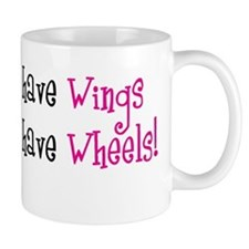 Some Angels have Wheels Small Mug
