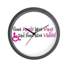 Some Angels have Wheels Wall Clock