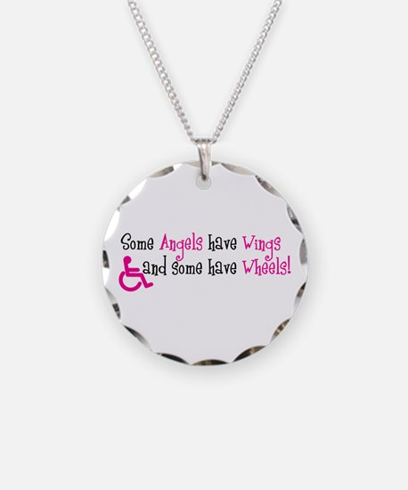 Some Angels have Wheels Necklace