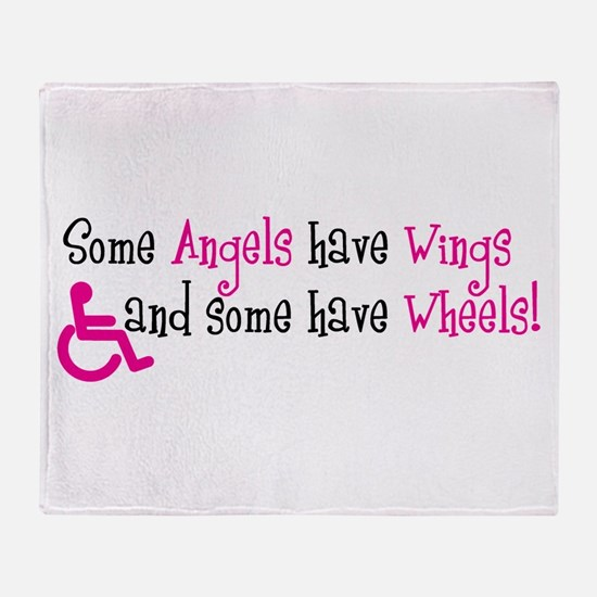 Some Angels have Wheels Throw Blanket