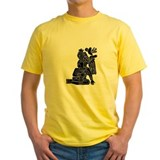 Mexican culture Mens Yellow T-shirts
