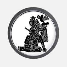 Mexican Aztec Protection Wall Clock