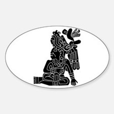 Mexican Aztec Protection Sticker (Oval)