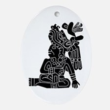 Mexican Aztec Protection Ornament (Oval)