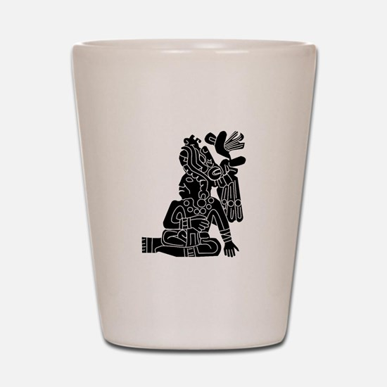 Mexican Aztec Protection Shot Glass