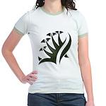 Tribal Frond Jr. Ringer T-Shirt