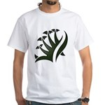 Tribal Frond White T-Shirt
