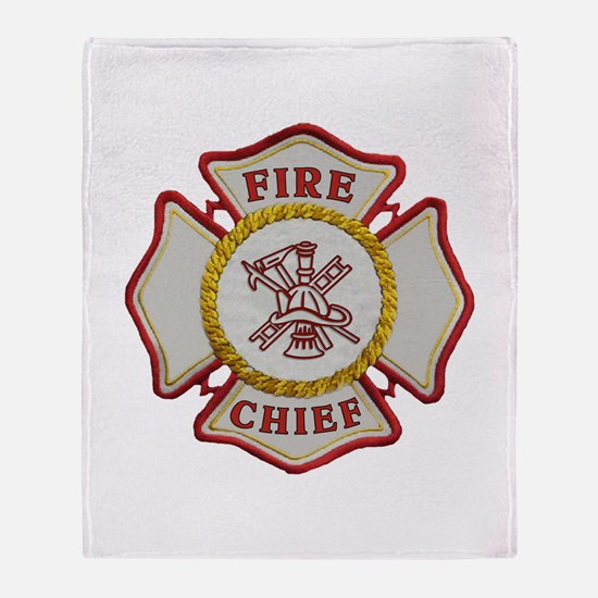 Fire Chief Maltese Throw Blanket