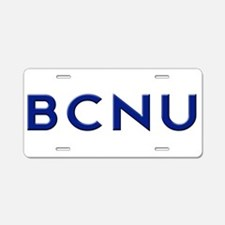 BCNU Aluminum License Plate