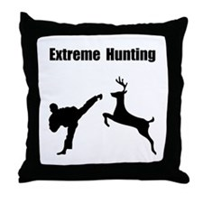 Extreme Hunting Throw Pillow