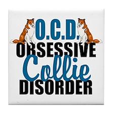 Funny Collie Tile Coaster