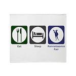Eat - Sleep - Ren Fair Throw Blanket