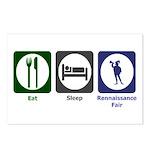 Eat - Sleep - Ren Fair Postcards (Package of 8)