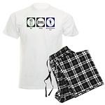 Eat - Sleep - Ren Fair Men's Light Pajamas