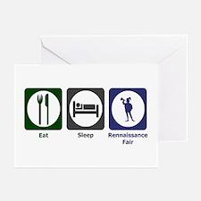 Eat - Sleep - Ren Fair Greeting Cards (Pk of 20)