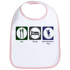 Eat - Sleep - Ren Fair Bib