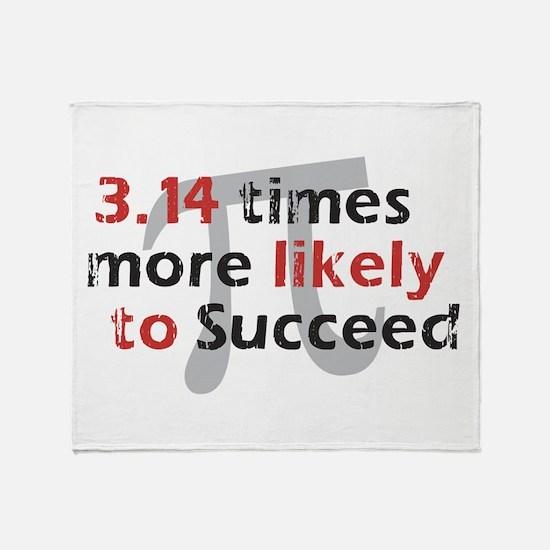 Pi Success Funny Math Throw Blanket