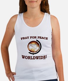 Pray For Peace Worldwide Women's Tank Top